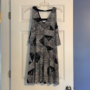 Metaphor Dresses - Black & White patterned dress